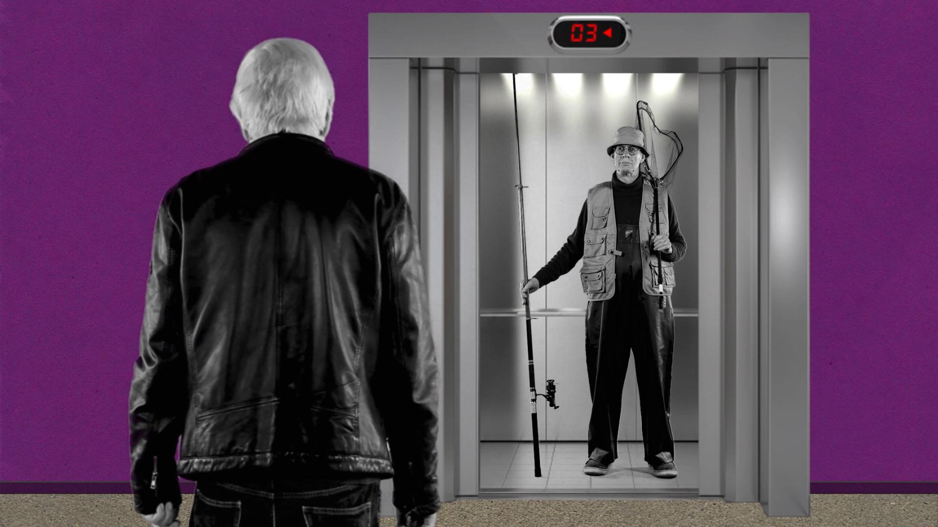 Am Aufzug